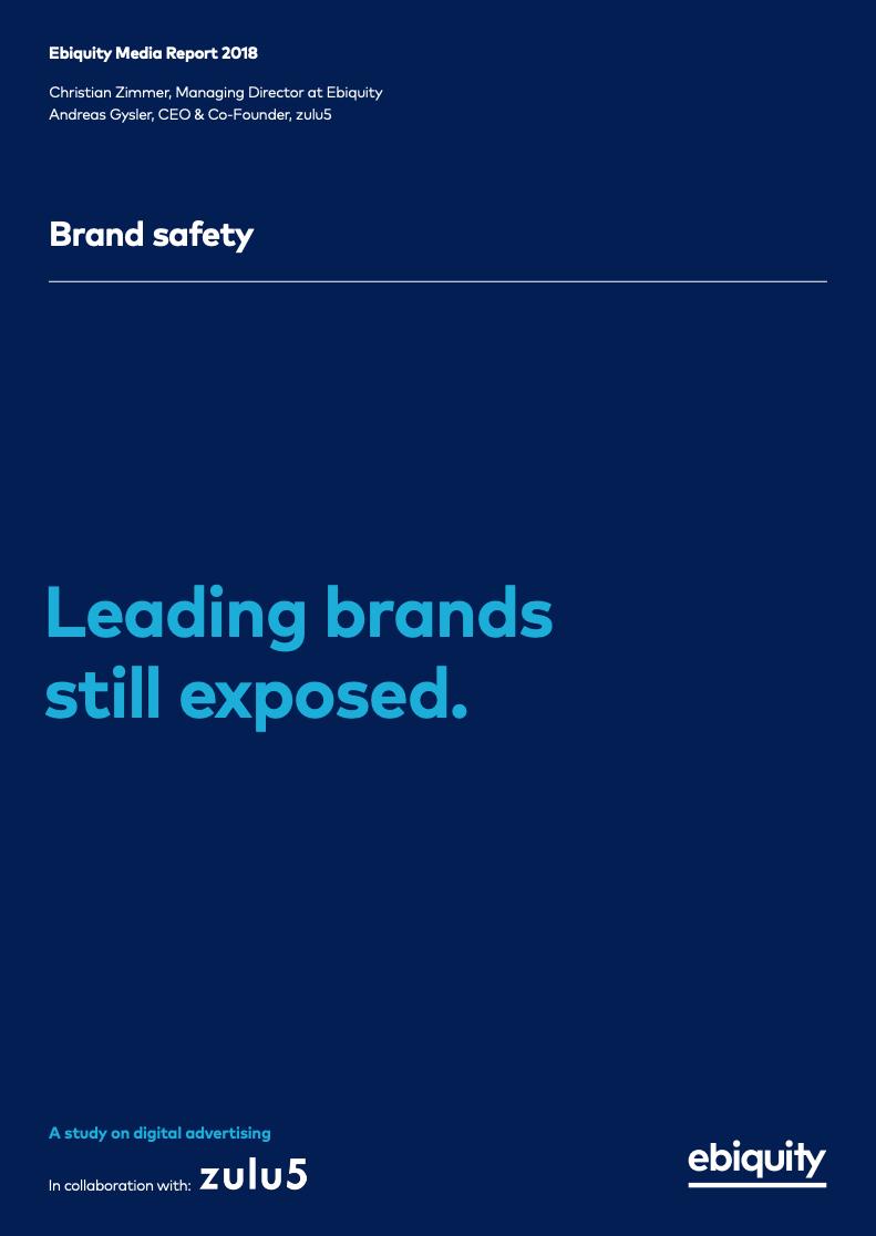Brand Safety Studie Mit Ebiquity Fuhrende Marken Noch Immer Exponiert